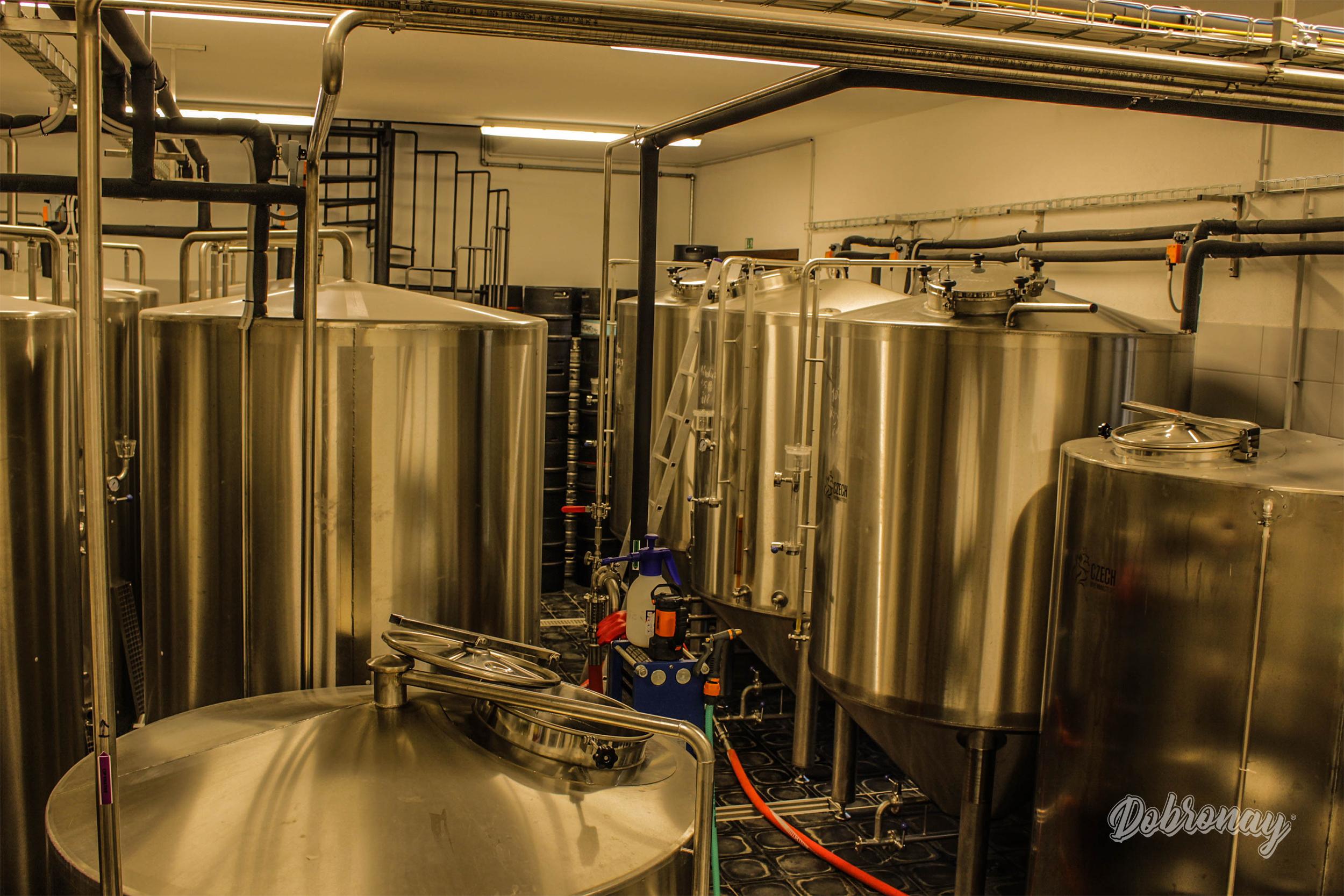 Pohľad na interiér nášho pivovaru